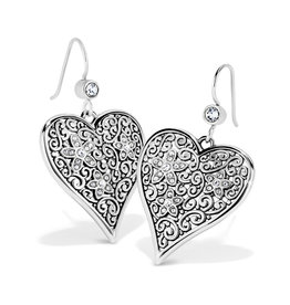 BRIGHTON JA6611 Baroness Fiori Heart French Wire Earrings