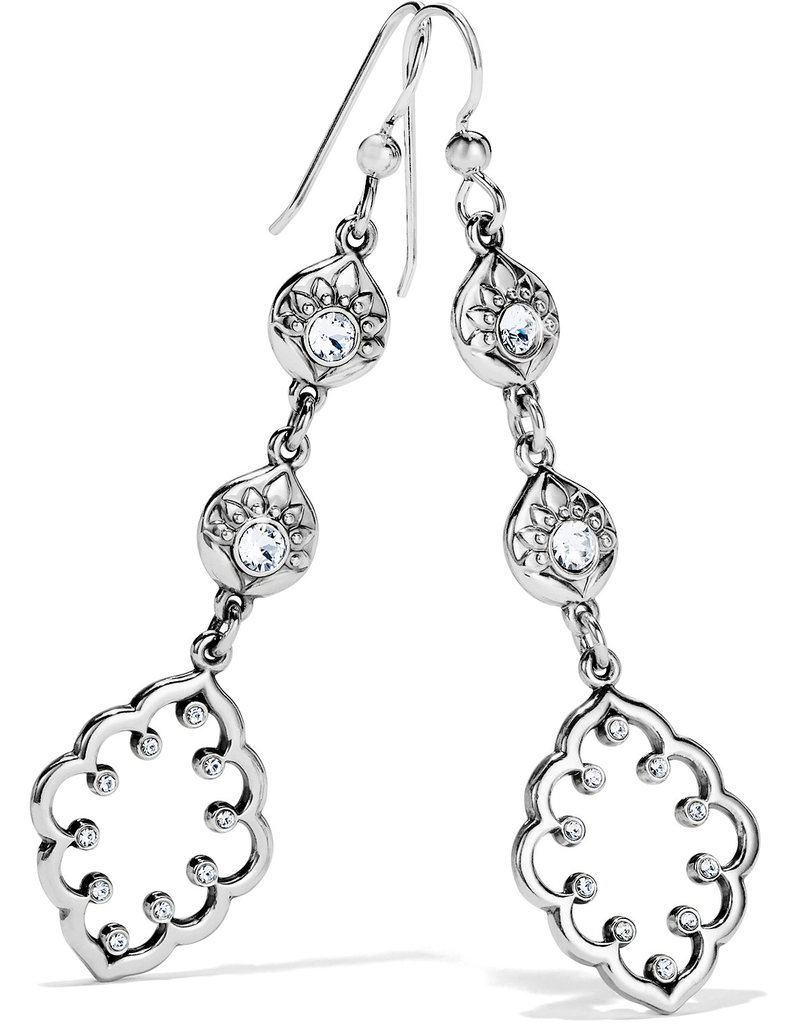 BRIGHTON JA6941 Journey To India Lotus Drop French Wire Earrings