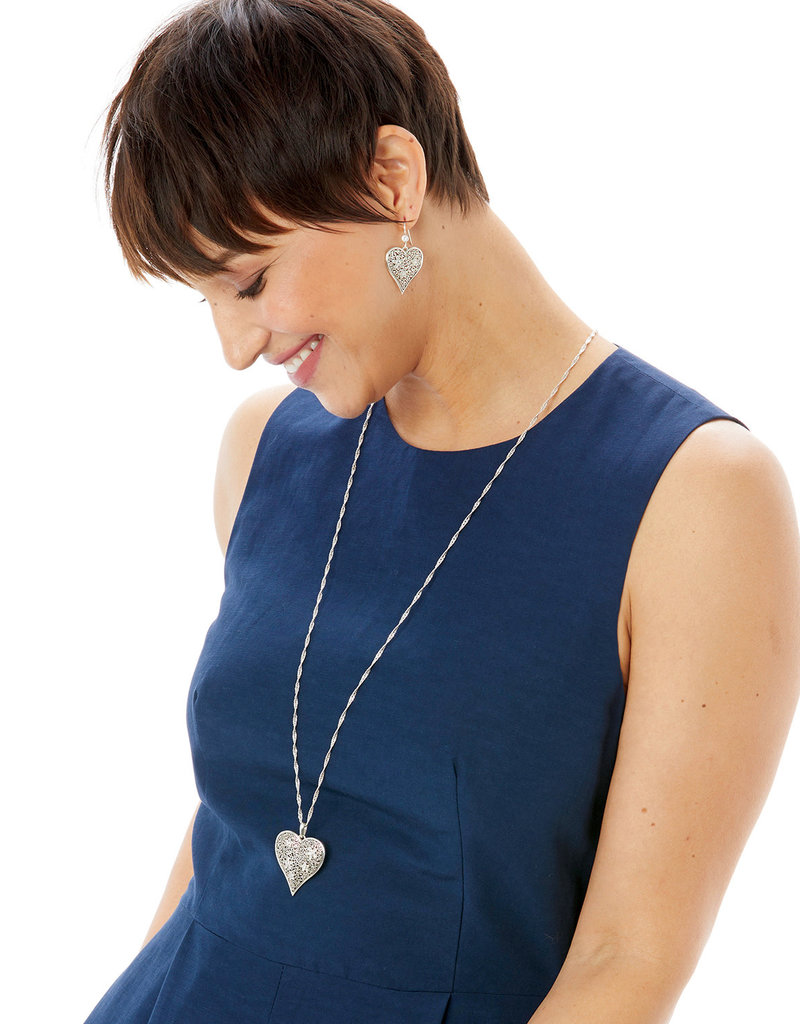 BRIGHTON JM2821 Baroness Fiori Heart Convertible Necklace