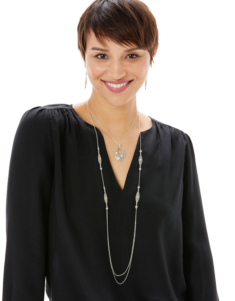 BRIGHTON JM2831 Baroness Fiori Oval Short Necklace