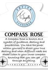 T JAZELLE KYANITE-COMPASS ROSE