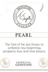 T JAZELLE MAGNESITE-WHITE PEARL COIN
