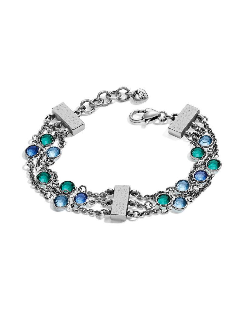 BRIGHTON JF5964 Elora Gems Tri Strand Bracelet