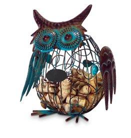 Oak & Olive Whimsical Owl Cork Cage WHOOO holds over 50 Corks