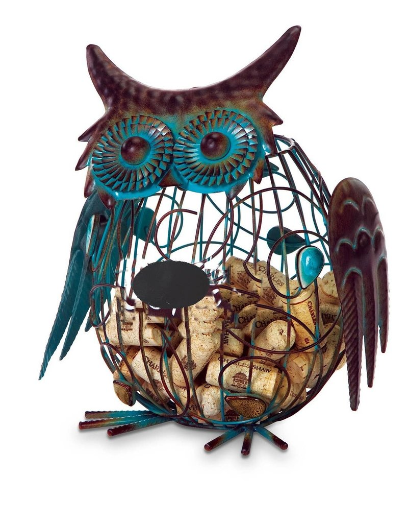 Oak & Olive Whimsical Owl Cork Cage WHOOO holds over 50 Corks