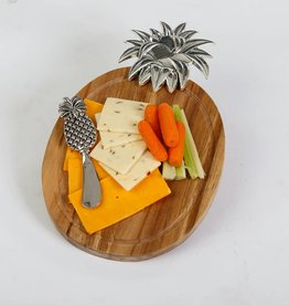 Oak & Olive PSA-363PA Pineapple Cheese Board Set ~Gift Boxed