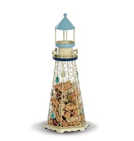 Oak & Olive Lighthouse Coastal/Beach Decor Cork Cage Holds over 80 Cork