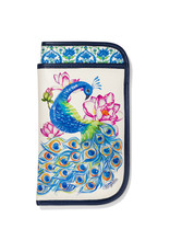 BRIGHTON E5362M Journey To India Peacock Double Eyeglass Case