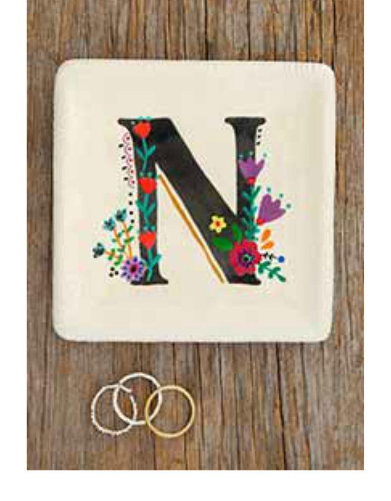 NATURAL LIFE Initial Trinket Dish