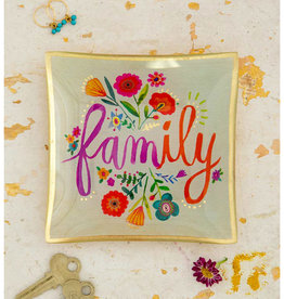 NATURAL LIFE GLST105 Family Glass Keepsake