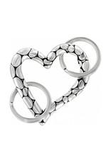 BRIGHTON E13390 PEBBLE HEART VALET KEY FOB