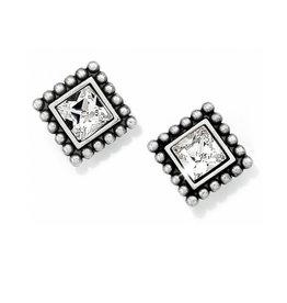 BRIGHTON J20602 Sparkle Square Mini Post Earrings