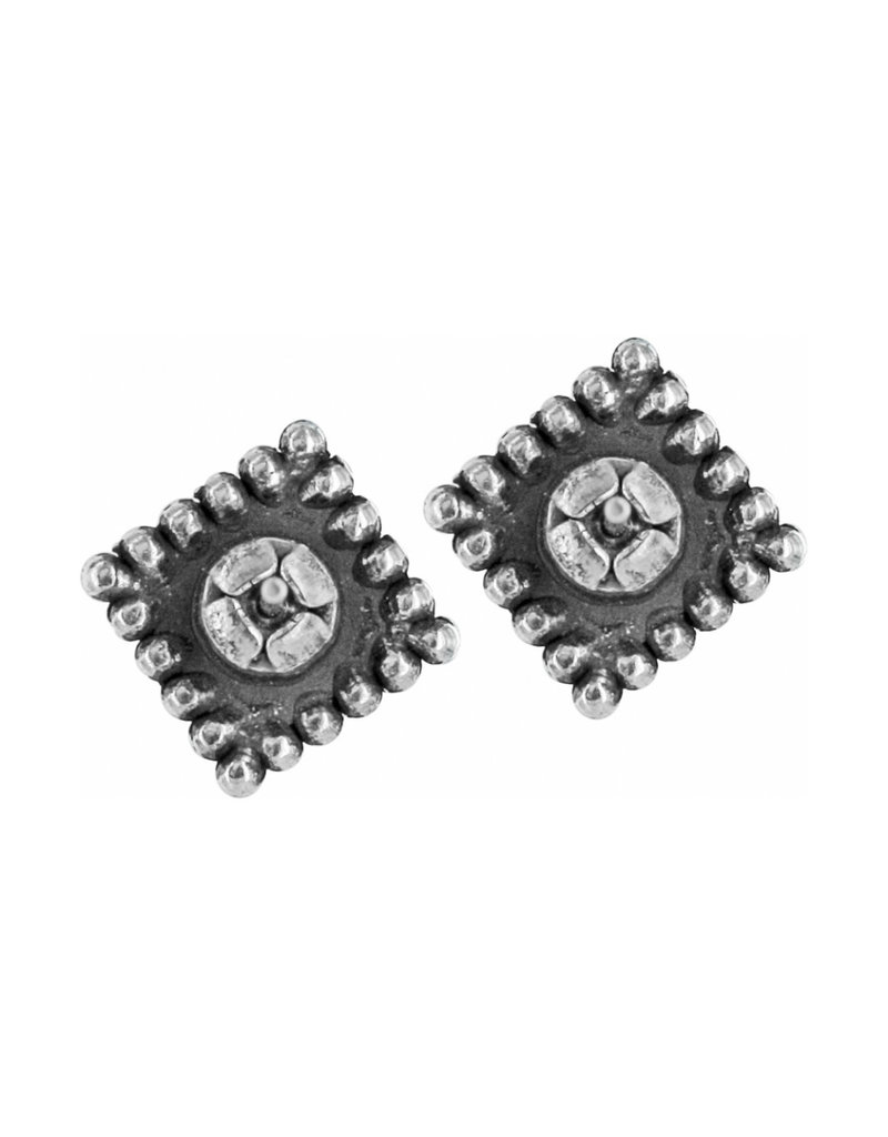 BRIGHTON J20602 Sparkle Square Mini Post Earrings