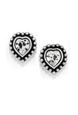 BRIGHTON J20622 Shimmer Heart Mini Post Earrings