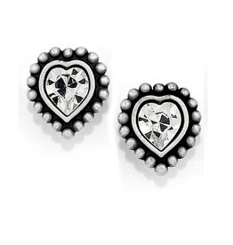 BRIGHTON J20622 Shimmer Heart Mini Post Earrings
