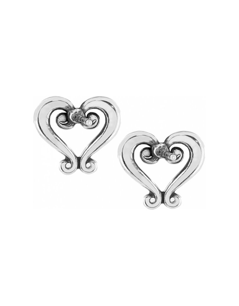 BRIGHTON J21630 GENOA HEART MINI POST EARRINGS