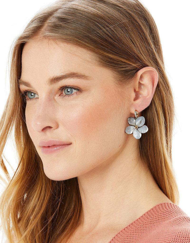 BRIGHTON JA6713 Neptune's Rings Shell Flower Earrings