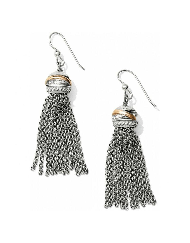 BRIGHTON JA2403 Neptune's Rings Tassel French Wire Earrings Silver-Gold
