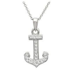 SHANORE Anchor Necklace Encrusted with White Swarovski® Crystal