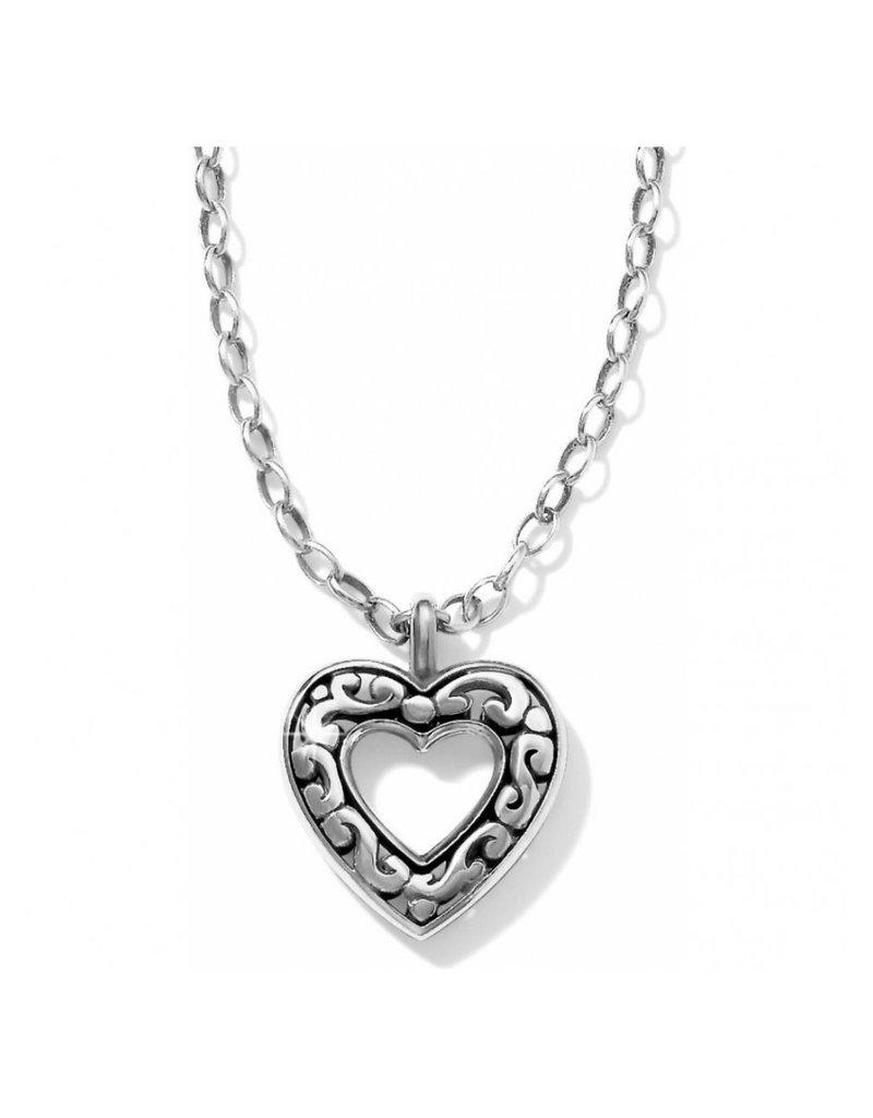 BRIGHTON JL4820 Contempo Love Necklace Silver