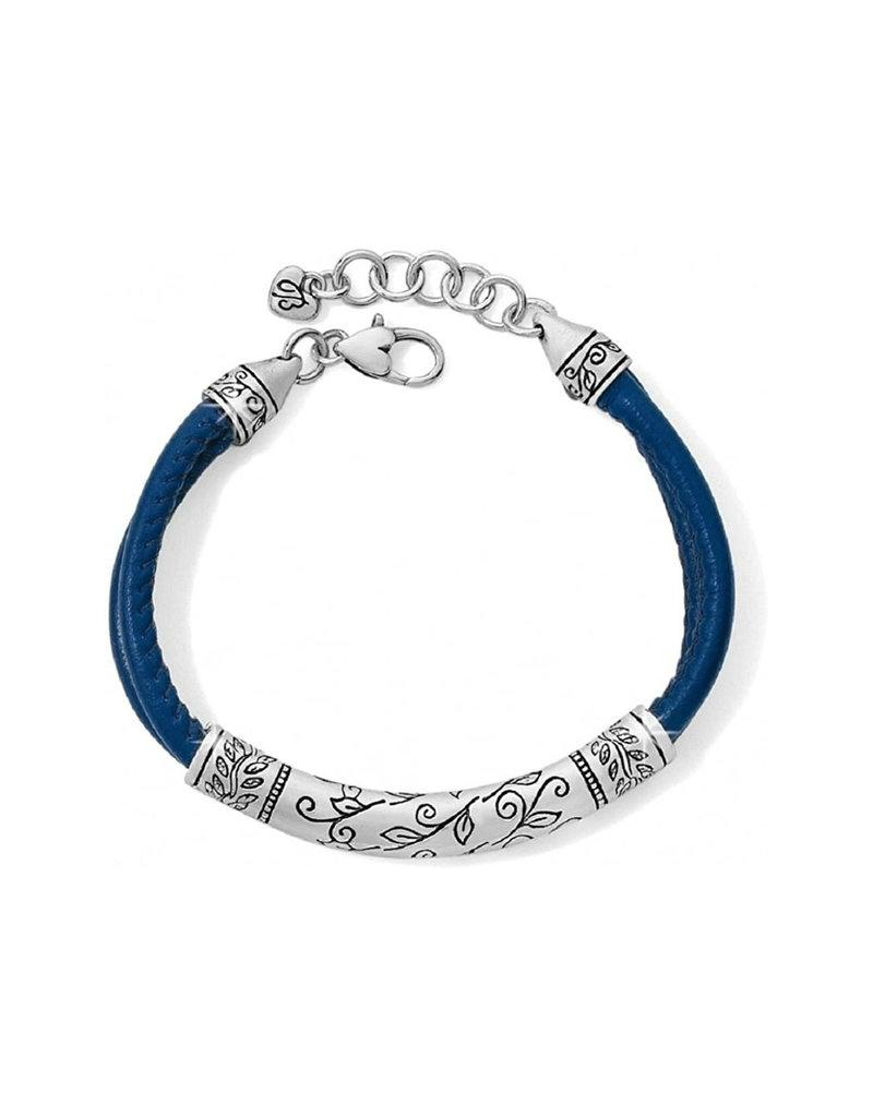 BRIGHTON JF066C Glastonbury Leather Blue Bracelet