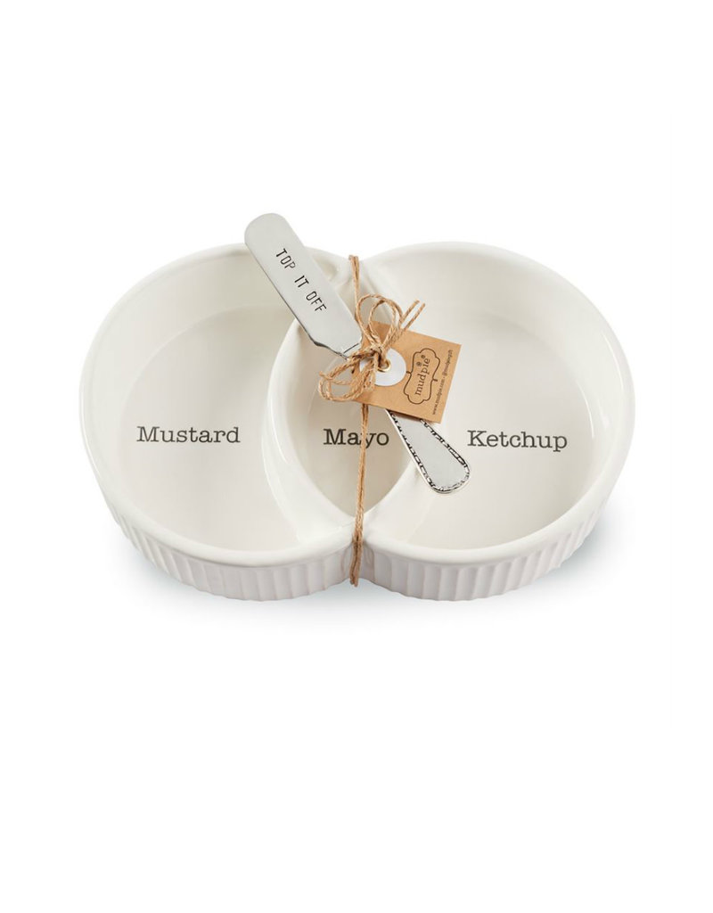 MUD PIE 46000095 CONDIMENT SERVER SET