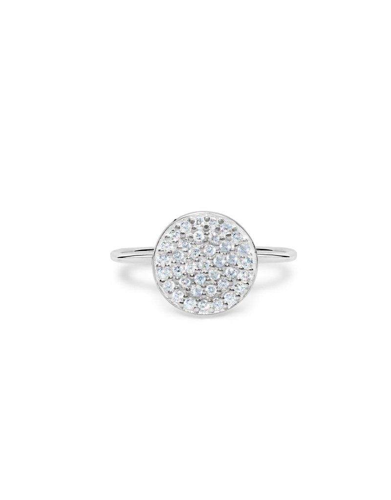 """STIA 020-SS-101 """"IT FITS"""" PAVE  RING - PAVE DISK (SILVER)"""