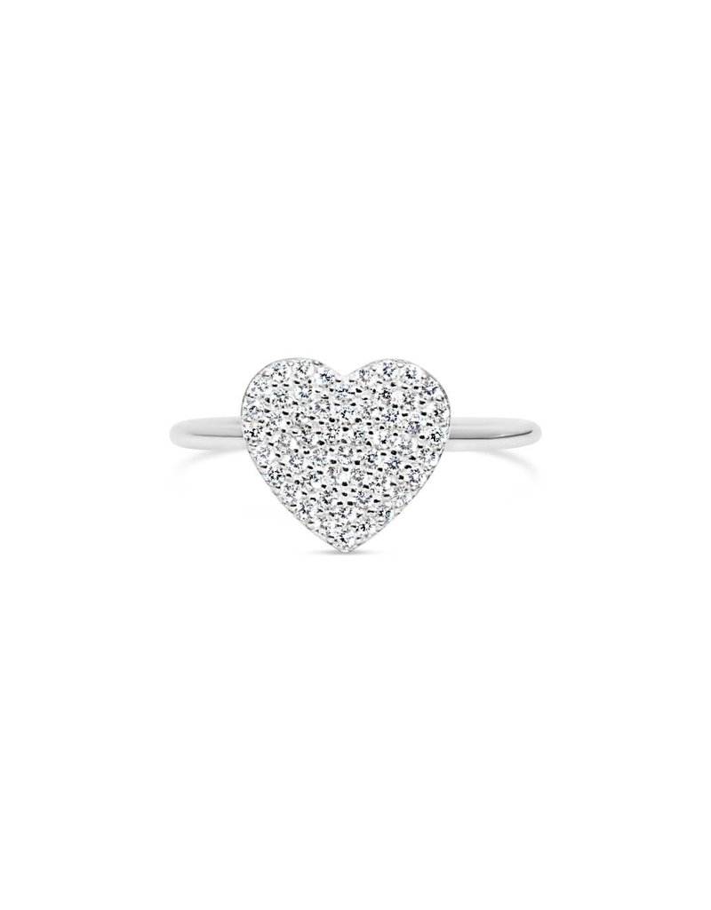 "STIA 020-SS-130 ""IT FITS"" PAVE RING - PAVE HEART"