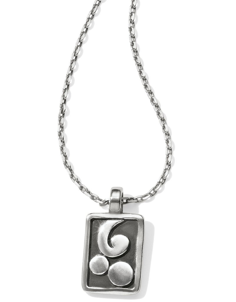 BRIGHTON JL8961 Contempo Ice Reversible Petite Tile Necklace