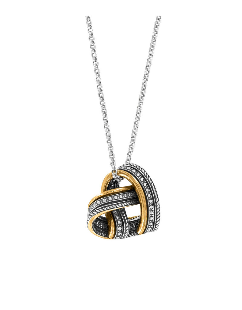 BRIGHTON JL8723 Neptune's Rings Woven Heart Necklace