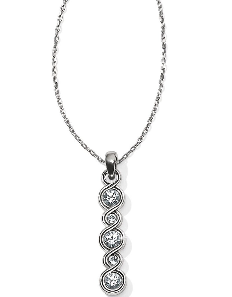 BRIGHTON JL9571 INFINITY SPARKLE BAR NECKLACE