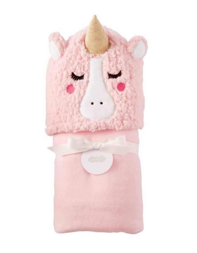 MUD PIE 11730007 UNICORN BABY HOODED TOWEL