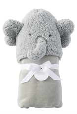 MUD PIE 11730010 BABY ELEPHANT HOODED TOWEL