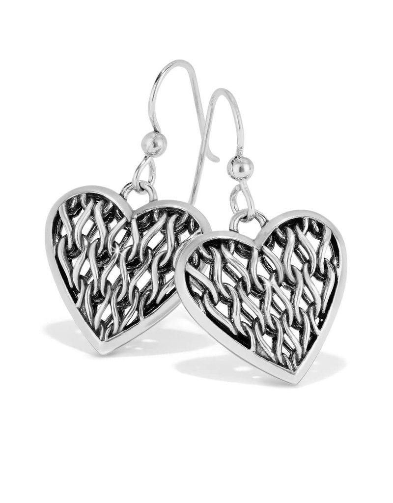 BRIGHTON JA6850 Delicate Memories Heart French Wire Earrings