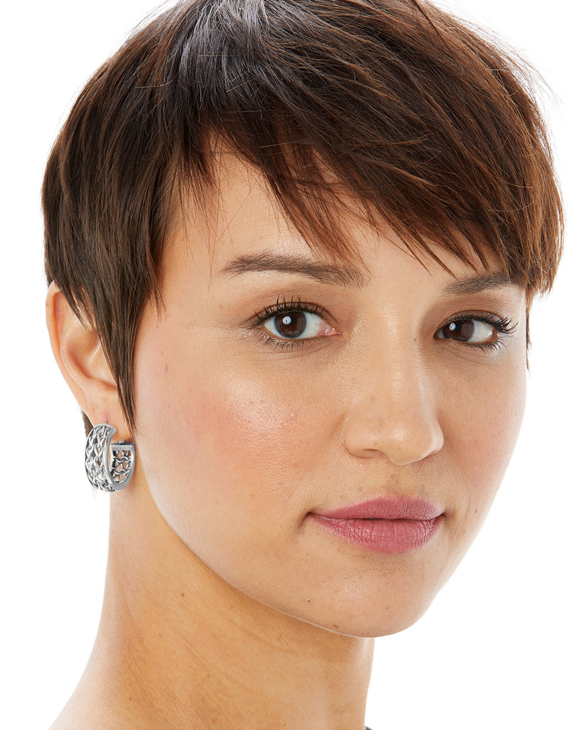 BRIGHTON JA6860 DELICATE MEMORIES HOOP EARRINGS