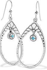 BRIGHTON JA6983 Marrakesh Mystique Open Teardrop French Wire Earrings