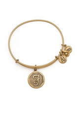 ALEX AND ANI A13EB14FG  Initial 'F' Charm Bangle gold