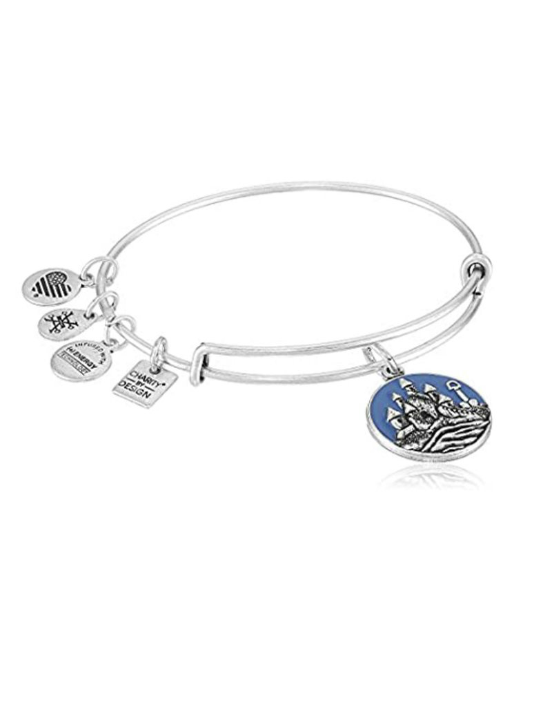 ALEX AND ANI CBD17SCRS Sand Castle EWB Bangle Bracelet