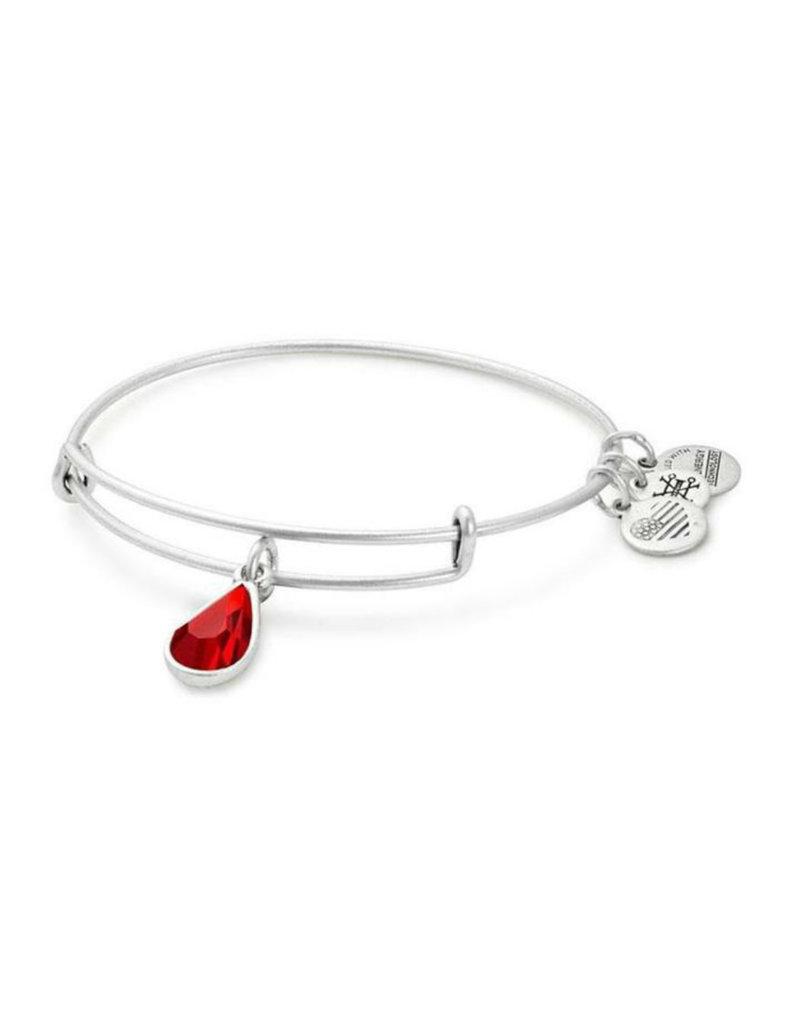 ALEX AND ANI A17EB46RS July Drop Charm Bangle Bracelet