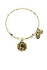 ALEX AND ANI A13EB14OG  Initial O Charm Bangle