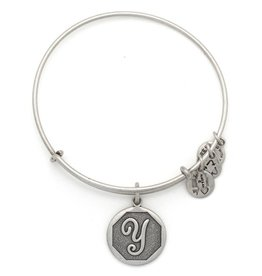ALEX AND ANI A13EB14YS  Initial Y Expandable Wire Bangle