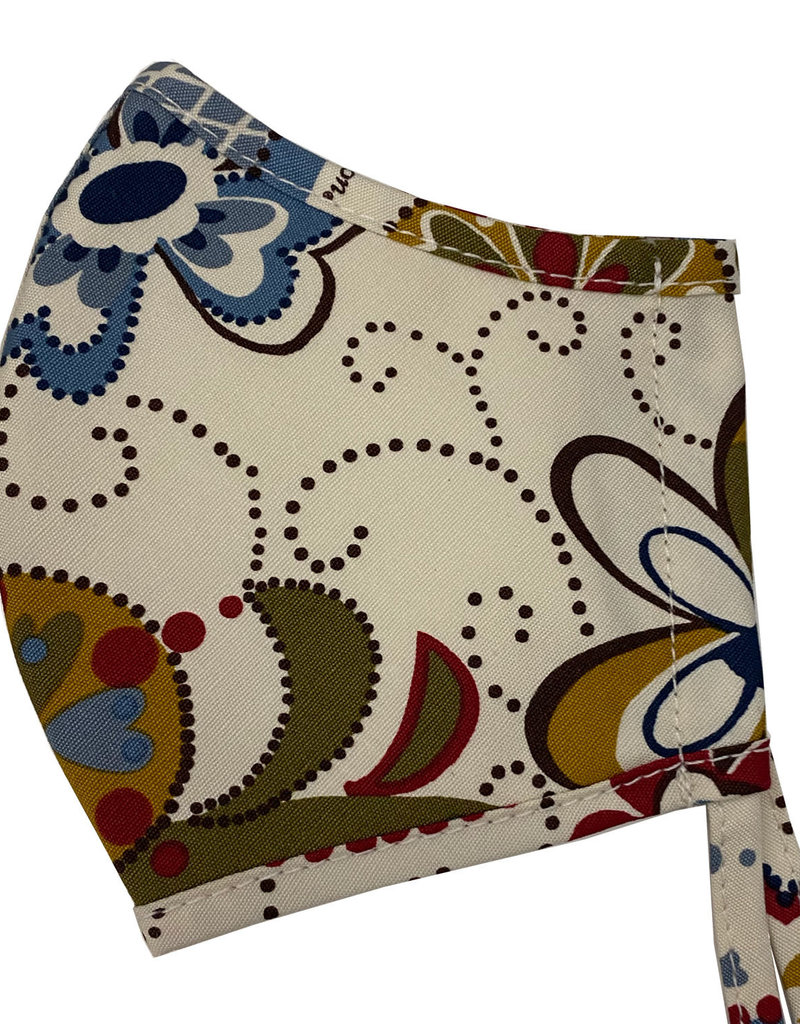 BRIGHTON D31918 Dottie Floral Face Mask (2 pack)
