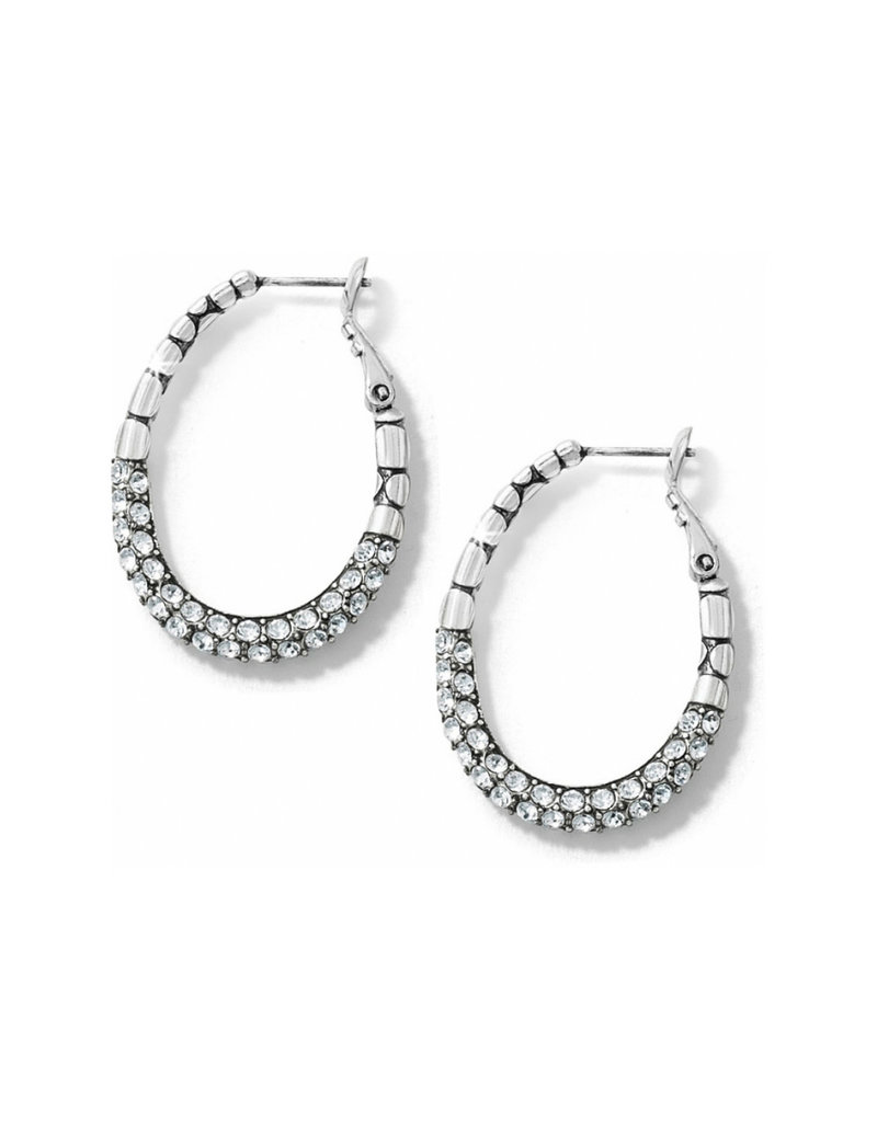 BRIGHTON JE2702 PEBBLE PAVE HOOP EARRINGS