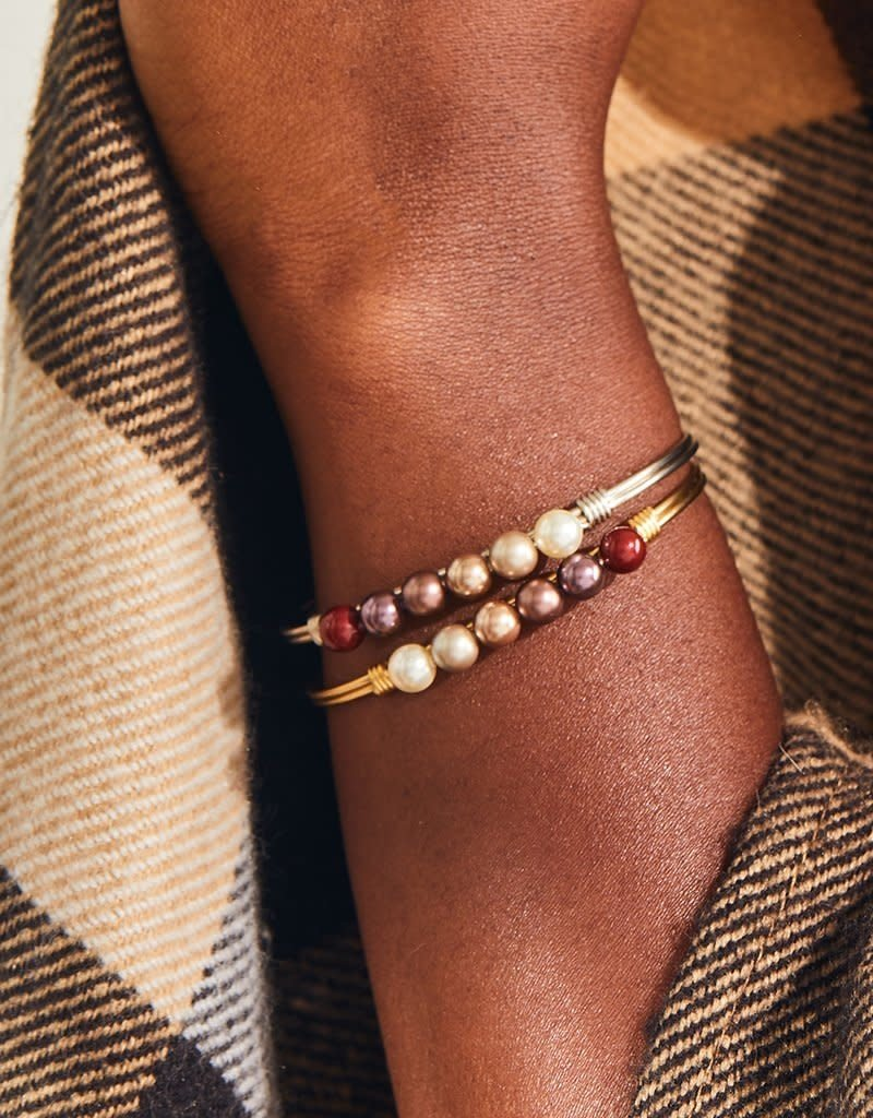 LUCA AND DANNI WWB181 Crystal Pearl Bangle Bracelet in Fall Ombre Brass Tone_Regular