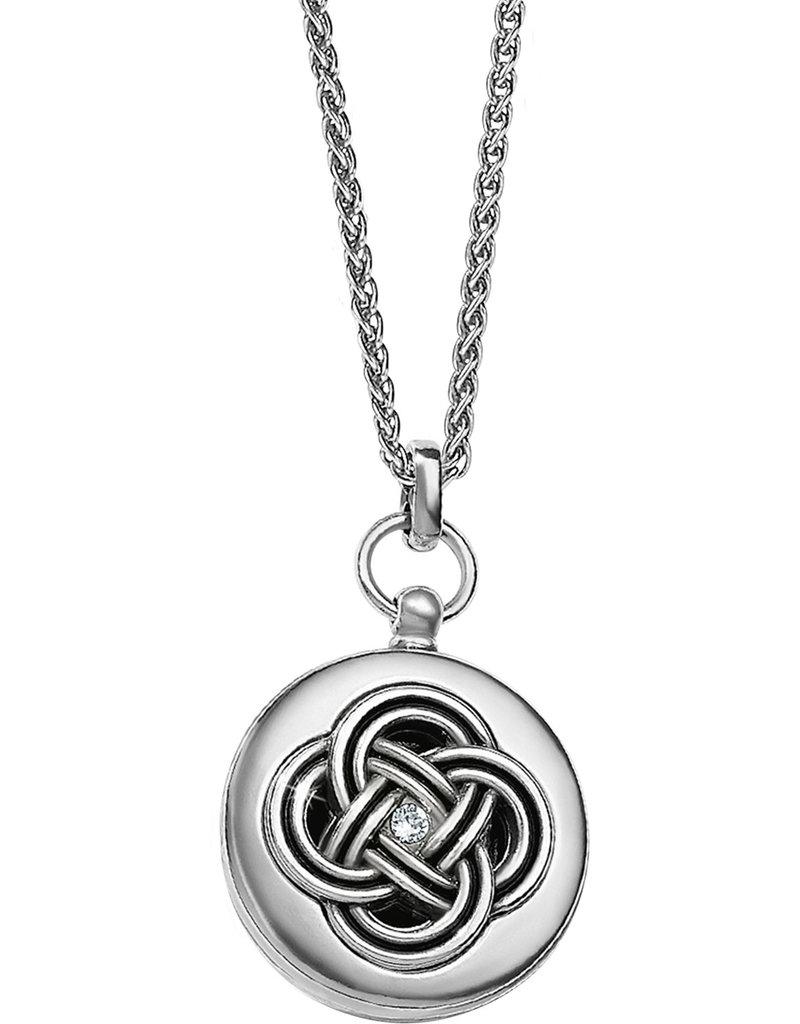 BRIGHTON JL9241 Interlok Small Round Locket Necklace