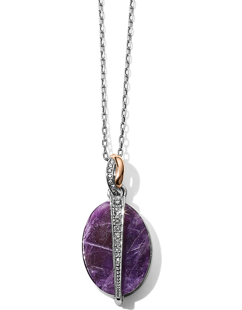 BRIGHTON JM194A Neptune's Rings Oval Amethyst Reversible Short Necklace
