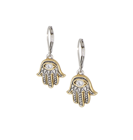 JOHN MEDEIROS F5293-AF00 Hamsa Hand French Wire Earrings