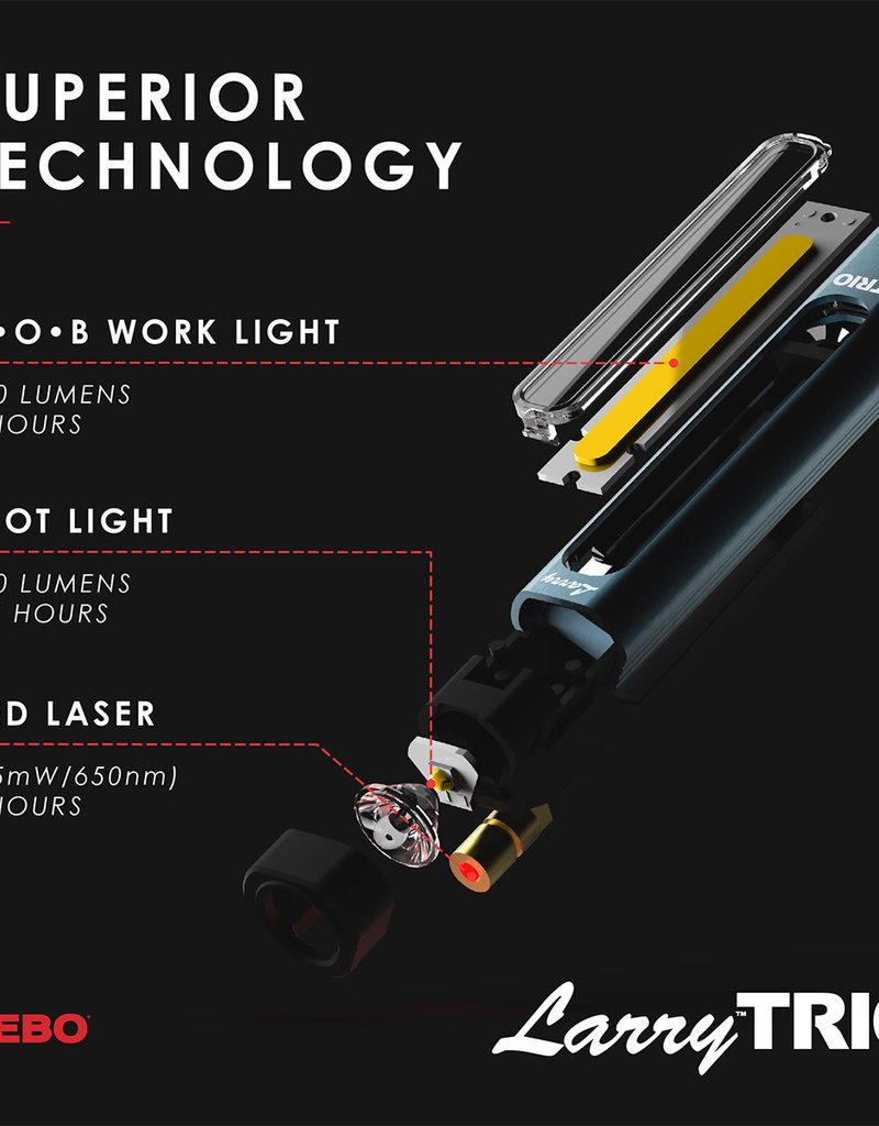 6868 LARRY TRIO 3-in-1 rechargeable light