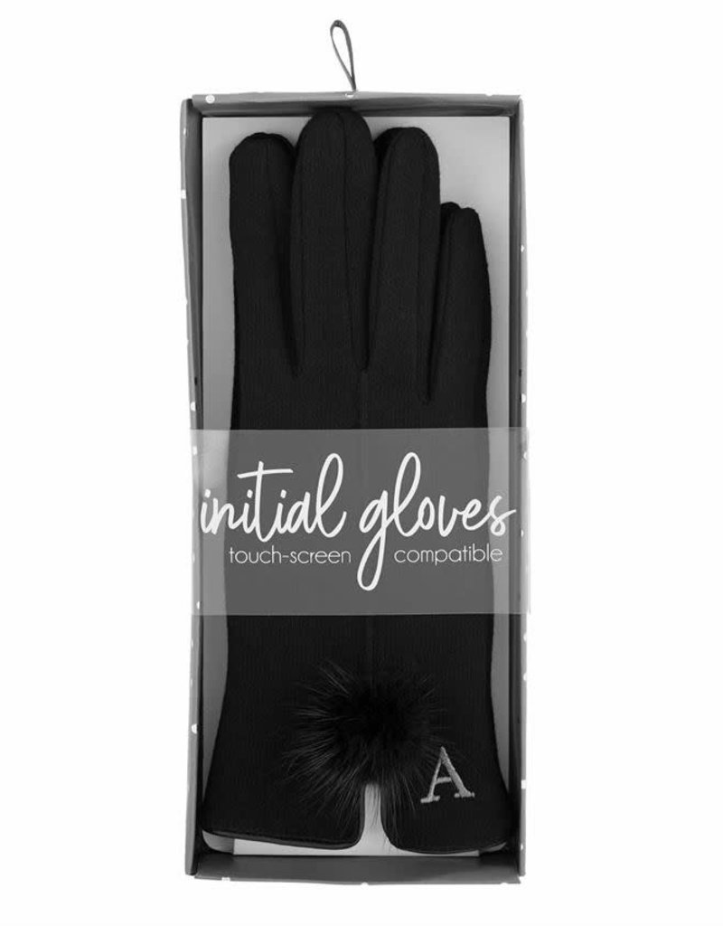 MUD PIE INITIAL POOF GLOVE