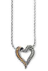 BRIGHTON J4030 Callie 2-Tone Heart Necklace